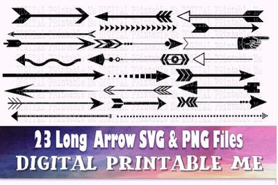 Long Arrow SVG bundle, Clip art, PNG, 23 image pack, Digital, cut file