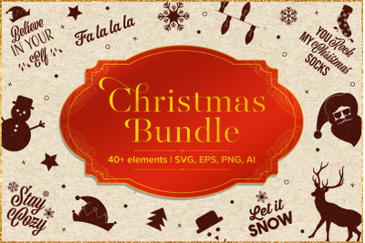 Christmas bundle 40+ elements