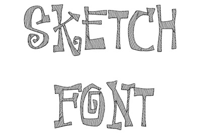Sketch embroidery font design-1420