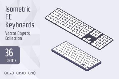 Isometric PC Keyboards