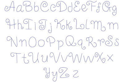 bean stitch embroidery font-1408