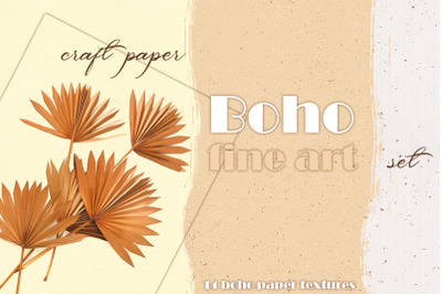 Boho Watercolor Fine Art Paper Set