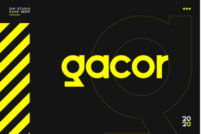 Gacor-Urban Sans Serif Font