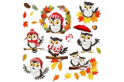 Owl Fall Autumn Bundle