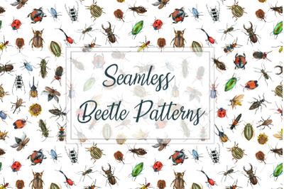 Beetle Seamless Patterns