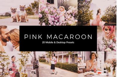 20  Pink Macaroon LR Presets