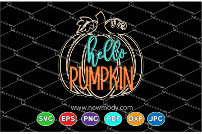 Hello Pumpkin Svg - Hello fall svg - Fall Quote Svg - Pumpkin Kisses