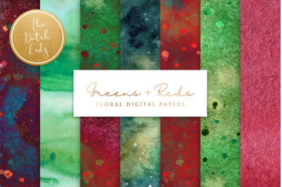 Green & Red Paint Texture Papers