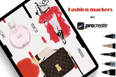 Fashion Markers Set for Procreate