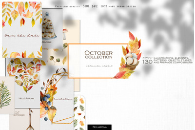 October watercolor collection