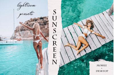 SunScreen Mobile & Desktop Lightroom Presets