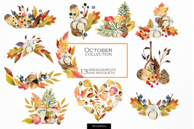 October collection of bouquets