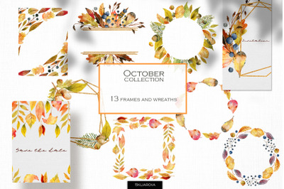 October collection of frames