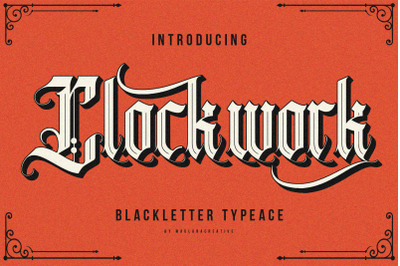 Clockwork Blackletter Typeface