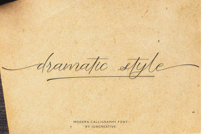 Dramatic Style Calligraphy