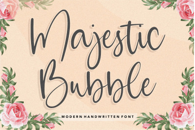 Majestic Bubble Modern Handwritten Font