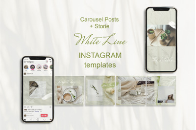Carousel Posts Feed and Stories. Instagram Template