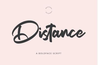 Distance Bold Script Font