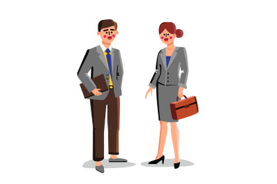 Lawyers Business Workers Man And Woman Vector