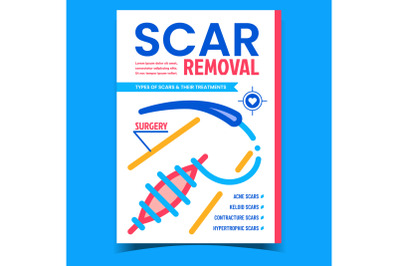 Scar Removal Creative Advertising Banner Vector