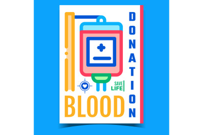 Blood Donation Creative Advertising Poster Vector