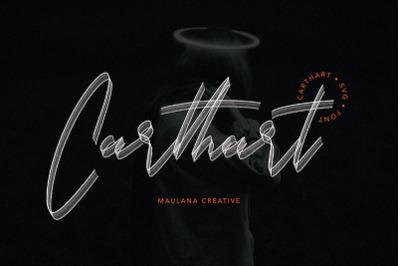 Carthart SVG Brush Font