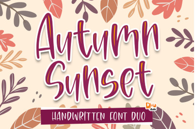 Autumn Sunset Font Duo