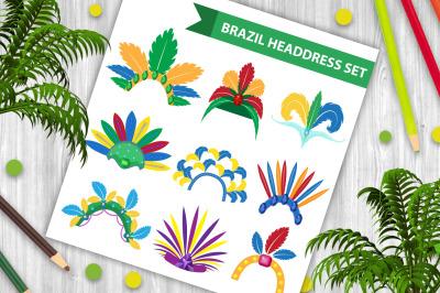 Brazil Feather Headband Headdress icons