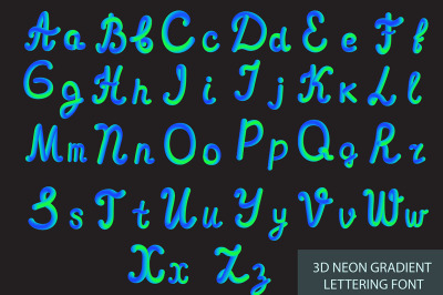 Neon 3D Typeset with Rounded Shapes