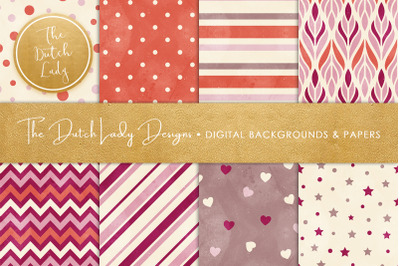 Distressed Seamless Patterned Backgrounds & Papers
