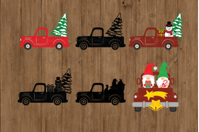 Christmas Truck SVG, Christmas SVG Cut Files, Christmas Truck Clipart.