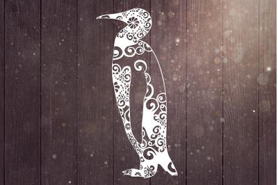 Penguin Mandala Svg, Bird Svg