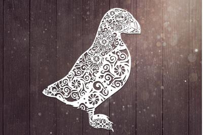 Puffin Mandala Svg, Bird Svg