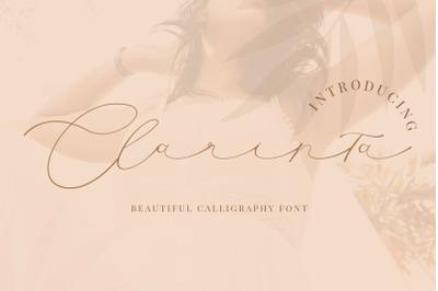 Clarinta - Beautiful Calligraphy