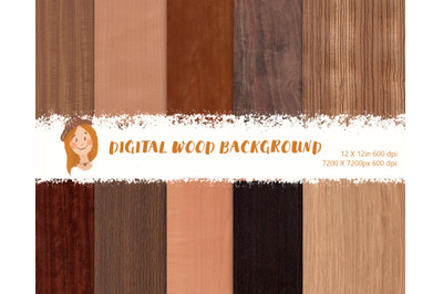 Wooden natural backgrounds, wood digital paper