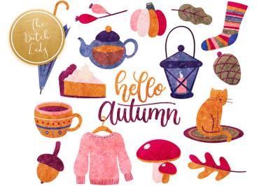 Autumn Fall Elements Clipart Set
