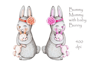 Bunny Mummy and Baby Bunny