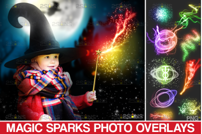 Sparkler overlays & photoshop overlay