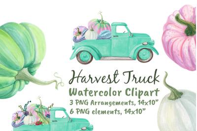 Harvest Farm Truck With Pumpkins