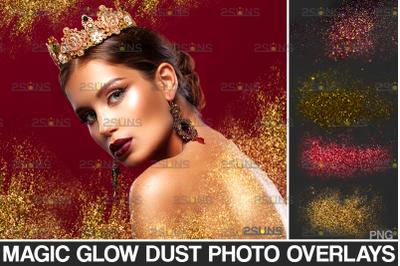 Blowing glitter overlay & Photoshop overlay