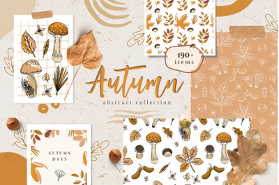 Autumn abstract collection