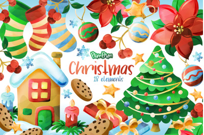 Christmas Watercolor Cliparts