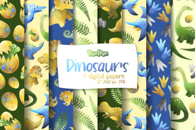 Dinosaurs Digital Papers
