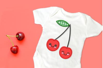 Cartoon Cherries | Applique Embroidery