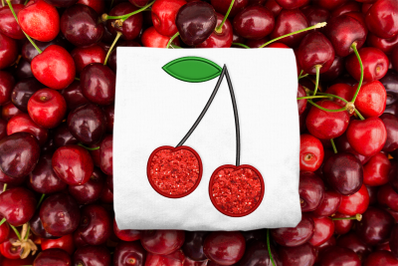 Cherries |  Applique Embroidery