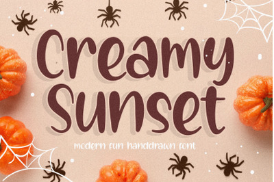 Creamy Sunset Modern Fun Handdrawn Font