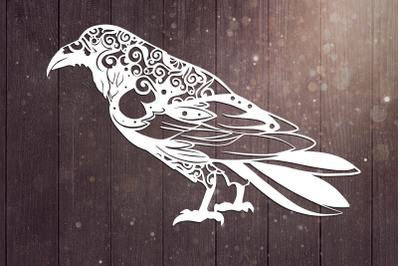 Raven Mandala Svg, Bird Svg