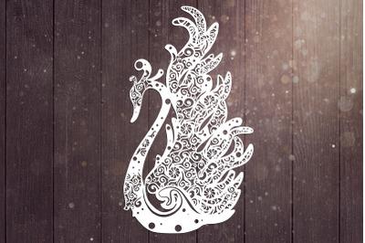Swan Mandala Svg, Bird Svg