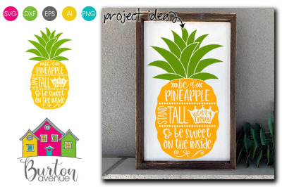 Be a Pineapple SVG | Pineapple Theme SVG Files