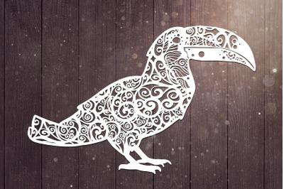 Tucan Mandala Svg, Bird Svg